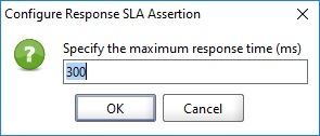 Specify the maximum response time assertion