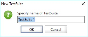 Specify name of TestSuite